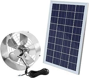 ECO LLC 3000CFM Solar Powered Attic Fan DC 65W Powerful Vent Fan 12.6 inch + 25W Solar Panel Set for Attic Ventilation,Lowering Temperature