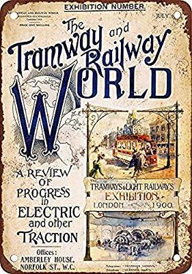 Toddrick Tramway and Railway World Cartel de hojalata Estilo ...