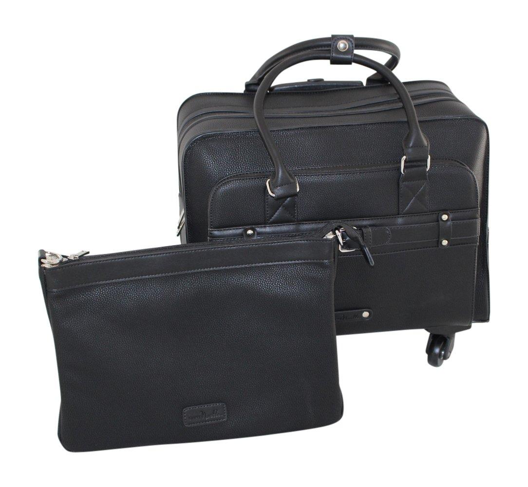 Simply Noelle Buckle Roller Bag, Black