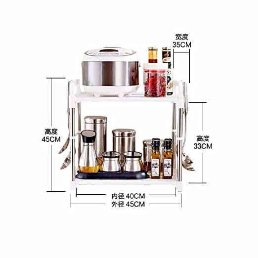 KHSKX Kitchen Storage Rack, plastico Doble Cocina Horno de ...