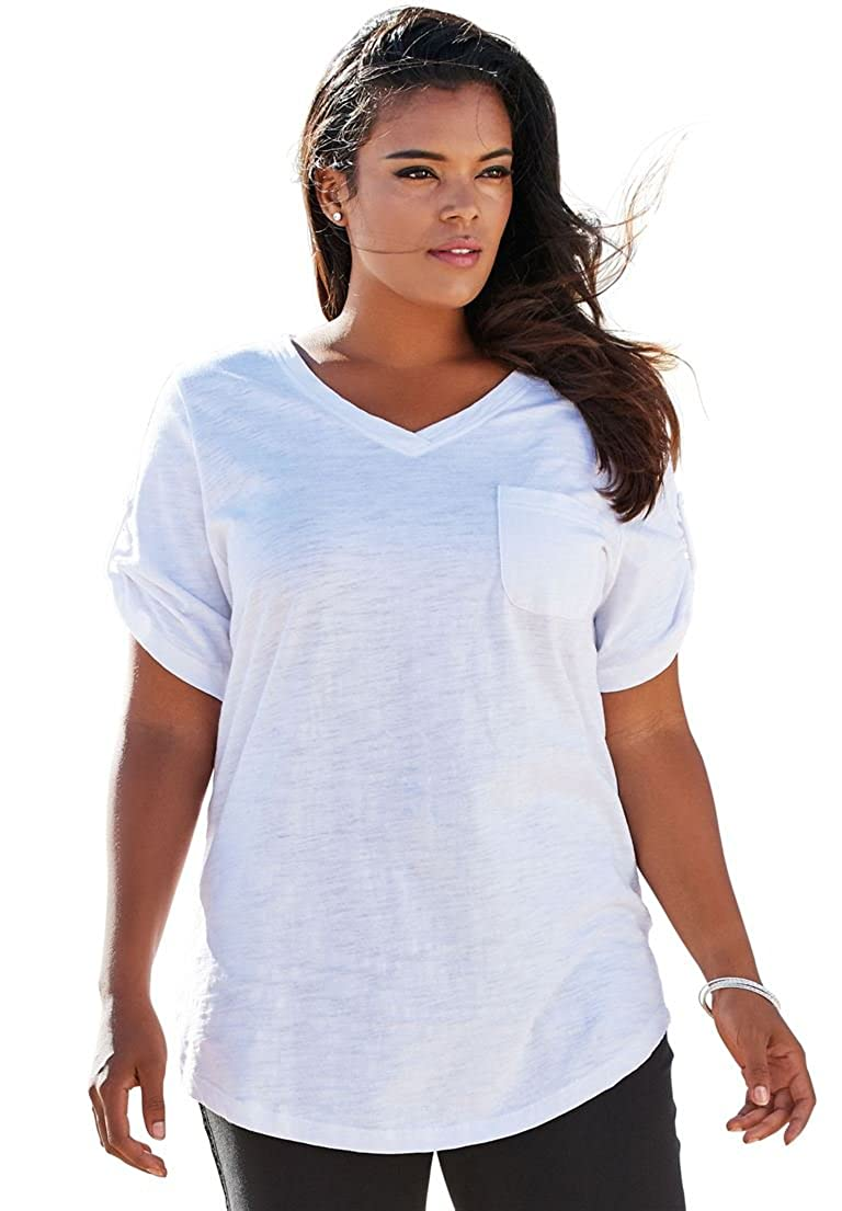 4b146bc7c One of our bestselling tunic borrows your favorite style from the boys: the  relaxed top. With a slightly oversized fit, our boyfriend slub plus size  tunic ...
