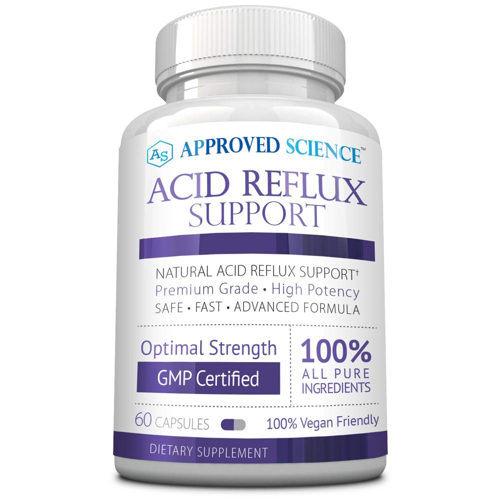 Approved Science® Acid Reflux Support - with Melatonin, Marshmallow Root, L-Taurine 60 Vegan Friendly Capsules by Approved Science