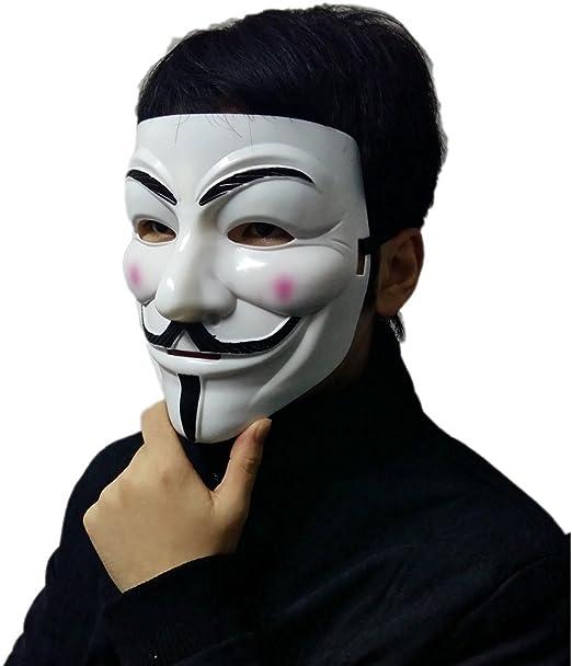 ttsam V for Vendetta Guy Fawkes cara máscara para Carnaval Disfraz ...