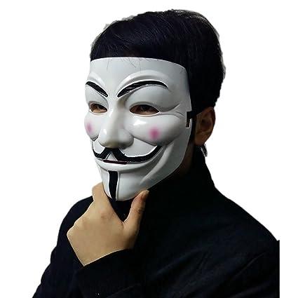ttsam V for Vendetta Guy Fawkes cara máscara para Carnaval Disfraz fiesta suministros anónimo, plástico