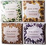 Rose Lover Scented Sachet pack of 4 sachet each of 20 gm (Fragrance : Any four out of Jasmine, Lavender Field, Sandalwood, White Musk, Angel Flower, Morning Dew, Rose, Garden of Edan, Lily & Lotus, Apple & Dewberry)