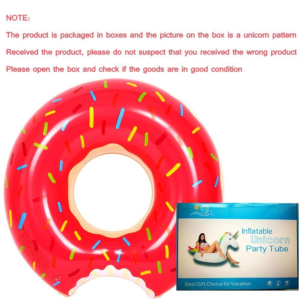 SKYTEARS Flotador Gigante Donut Hinchable para Buñuelo Piscina (D): Amazon.es: Juguetes y juegos