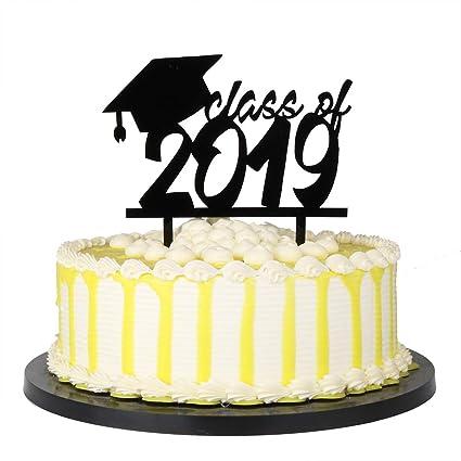 Amazon Com Palasasa Class Of 2019 Graduate Cake Topper High