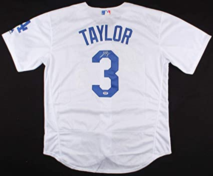info for b69e3 ced61 Chris Taylor Autographed Signed Los Angeles Dodgers Majestic ...