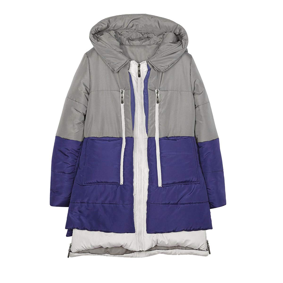 Maduang Women's Winter Jacket Cotton Coat Casual Loose Long Sleeve Hooded Outwear