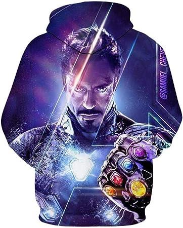 Avengerccc Avengers Sudaderas 3D Impreso Endgame de Superhéroes Iron Man Cosplay Hoodie Vengadores 4 Moda Estilo Harajuku