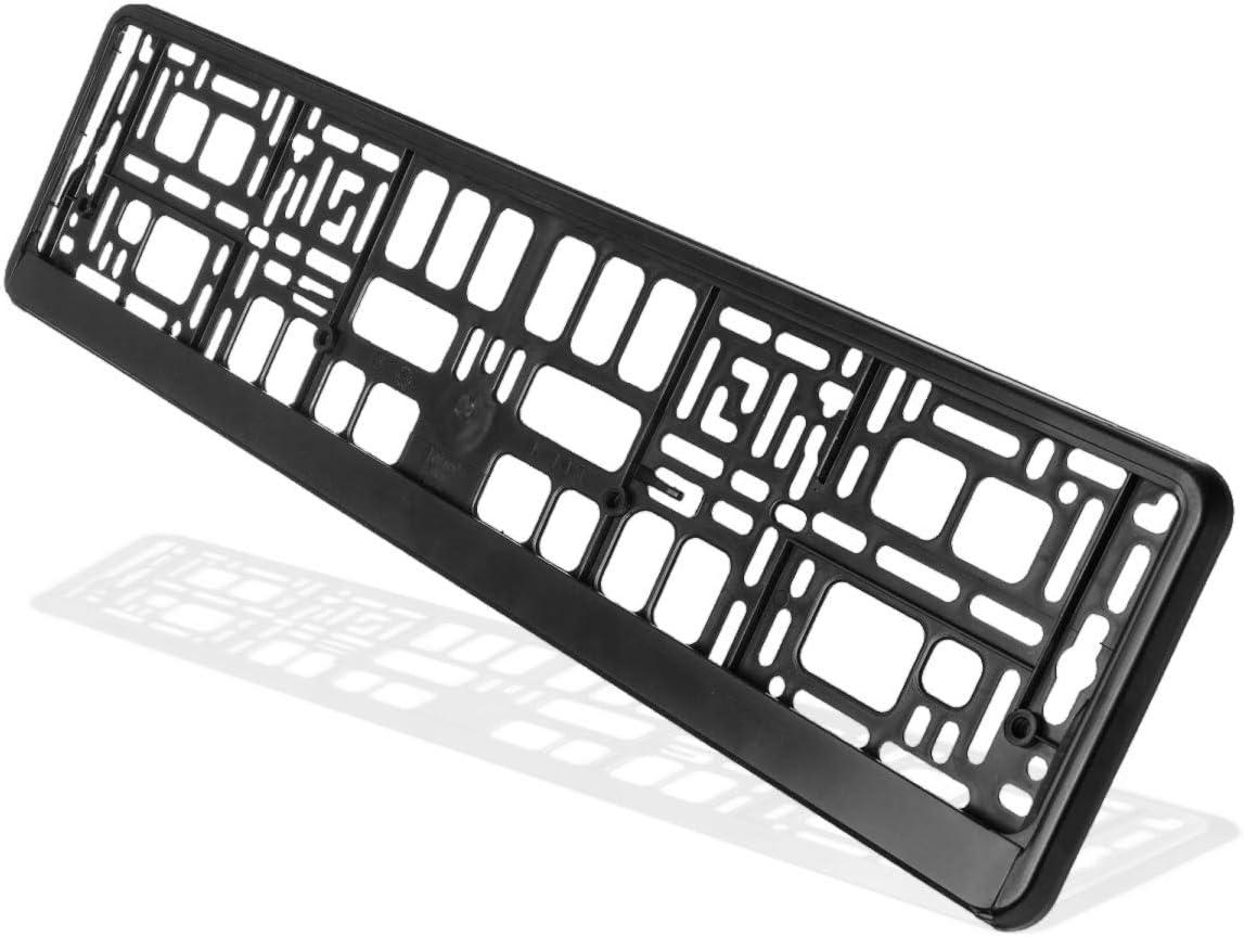 Hightecpl Kennzeichenhalter 2er Set Schwarz Stabil Witterungsbeständig Nummernschildhalter Pkw Kennzeichenhalterung Nummernschildhalterung 2 Stück Auto
