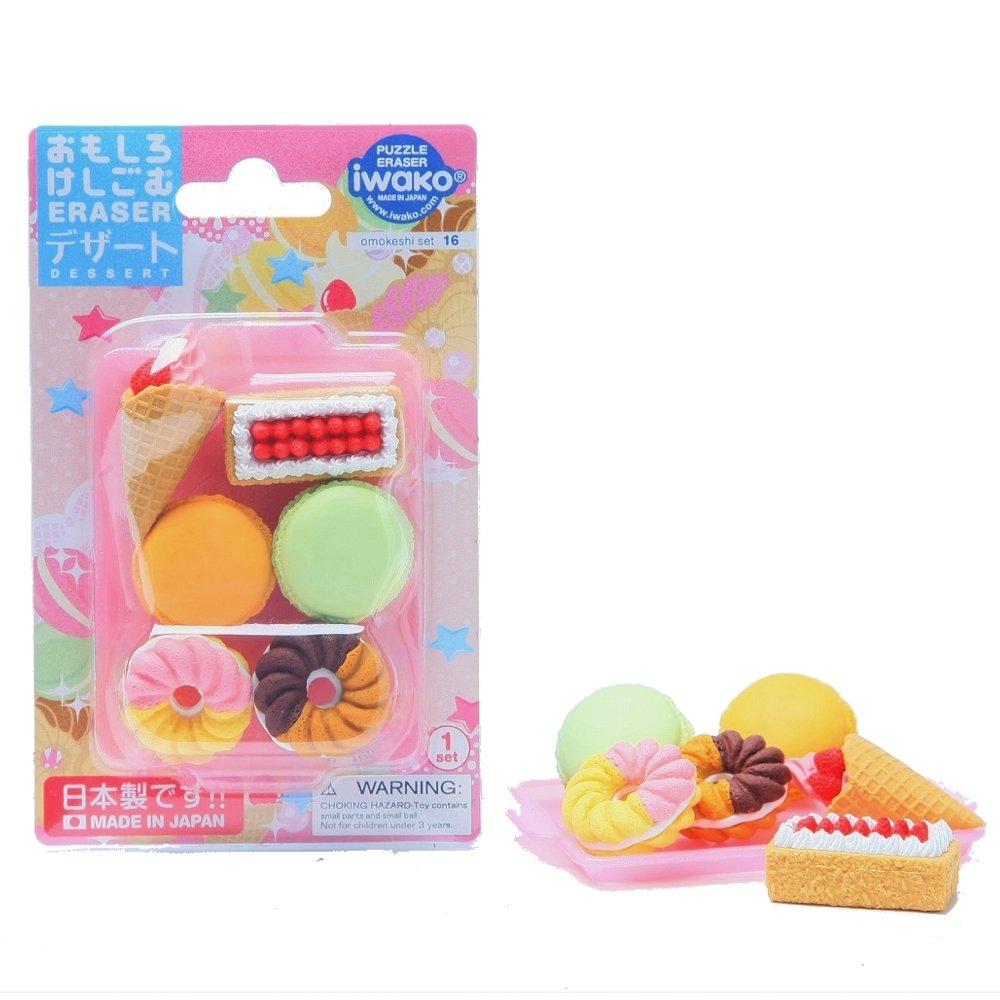 Iwako Eraser  1 pezzi. Gomma da cancellare (Six), blister Eraser  dessert (Japan Import)