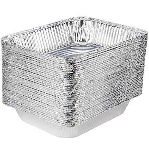 COMFY PACKAGE [HEAVY-DUTY] Aluminum Foil Steam Table Pans, Half Size Deep, 9×13 Pans (30 Pack)