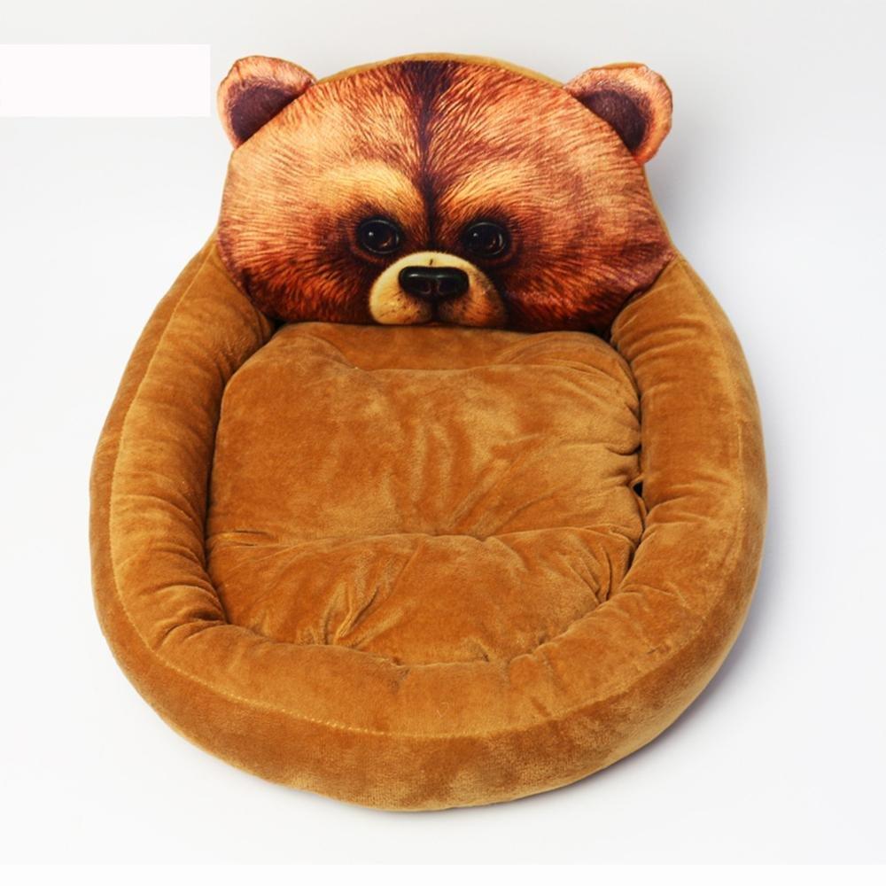 SASA Cute Cartoon Kennel Teddy VIP Plush pet mat Winter Warm Supplies Cat Kennel, 005