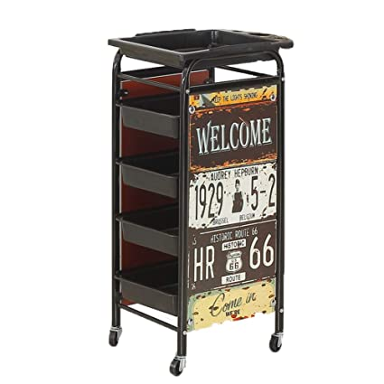 Amazon.com : MJHY Beauty Salon Trolley Barbershop Bar Car Salon Trolley Hairdressing Tool Cart Five-Storey, Natural : Beauty