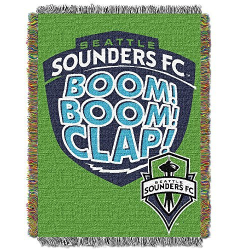 (MLS Seattle Sounders FC Handmade Woven Tapestry Throw, 48