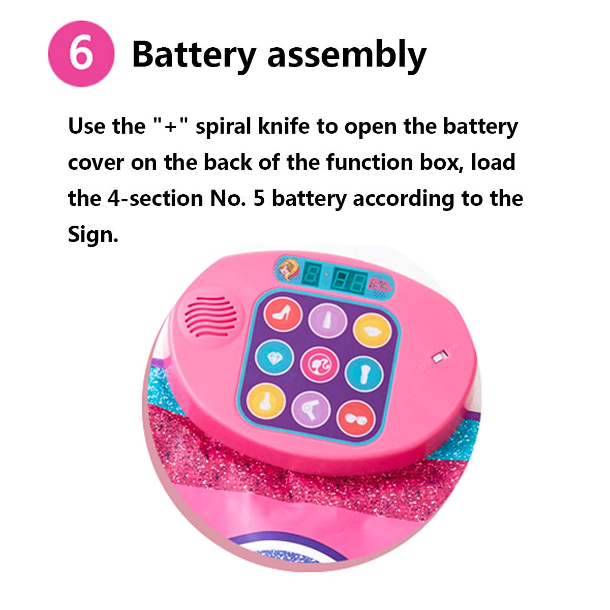 Color Dynamic Dance Mat, Children's Electronic Music Play Mat Ideal Gift and Toy Suitable for Children Over 3 Years Old,Pink by Eustoma (Image #6)