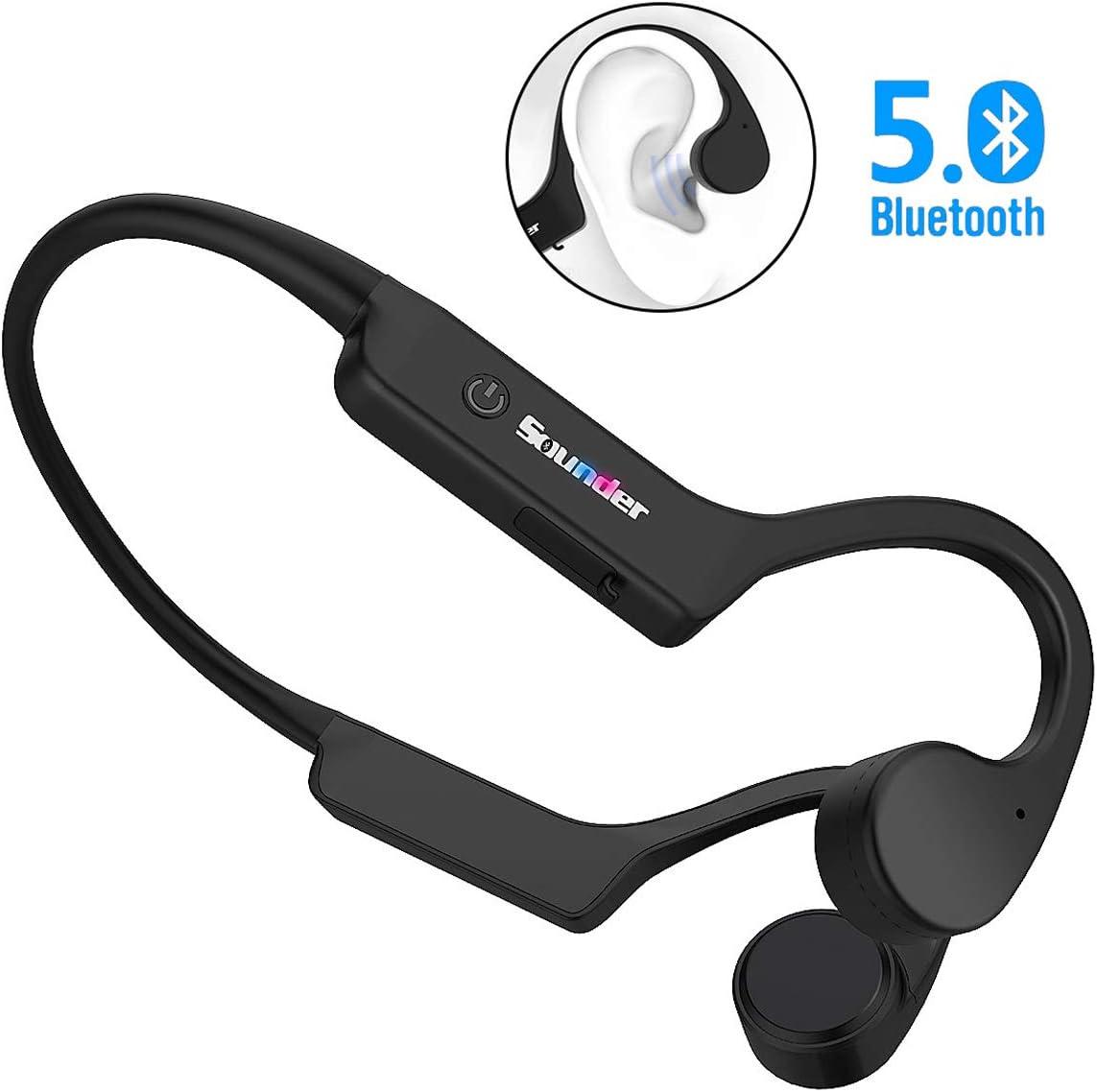 Open Ear Wireless Bluetooth Bone Conduction Headphones, Senli Free Ears Lightweight Sports Headsets IPX56 Waterproof BT 5.0 HD Phone Call Earphone for Jogging Running Driving Cycling Sweatproof Earset