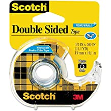 ScotchRemovable DoubleSided Tape 3/4 inch x 400 inches Dispenser RHY51, 4-Pack