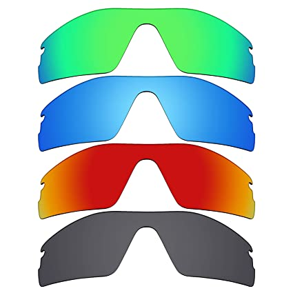 16997b9090b Image Unavailable. Image not available for. Color  Mryok 4 Pair Polarized  Replacement Lenses for Oakley Radar Pitch Sunglass - Stealth Black Fire