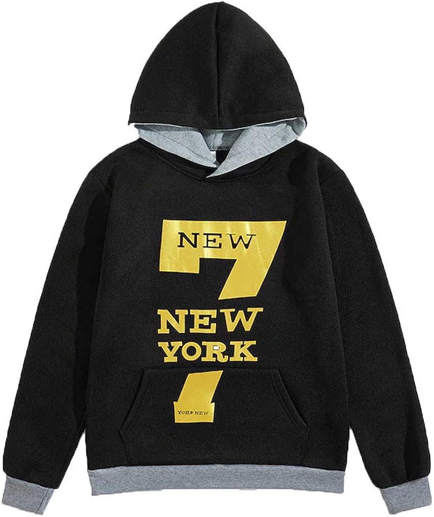 MISSWongg Ropa de Moda Poliéster Newyork Impresión Sudaderas ...