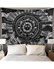 Home Decorations,India Mandala Tapestry Wall Hanging Sun Moon Tarot Wall Tapestry Wall Carpet Psychedelic Tapiz Witchcraft Wall Cloth Tapestries