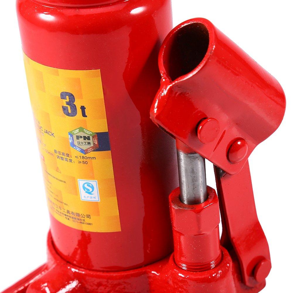 3T Hydraulic Bottle Jack 2-8 Tonne Hydraulic Bottle Jack Lifting Jack for Car Van Boat Truck Caravan