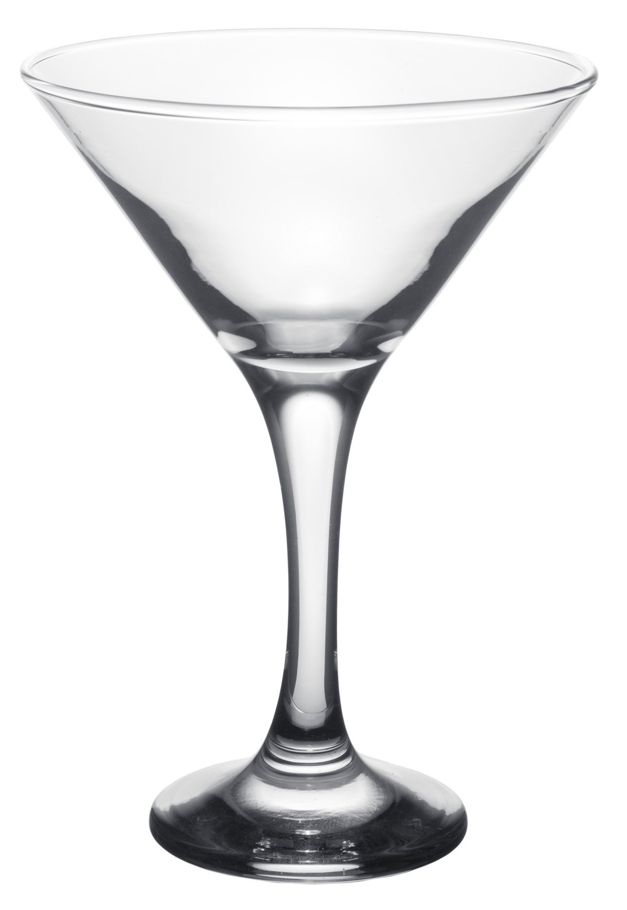 Clear Glass Barware, Classic Long Stemmed Martini Cocktail Glasses, Set of 6, 6 oz