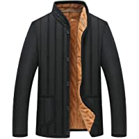 chenshiba-AU Mens Fleece Thick Warm Winter Single Breasted Down Jacket Coat