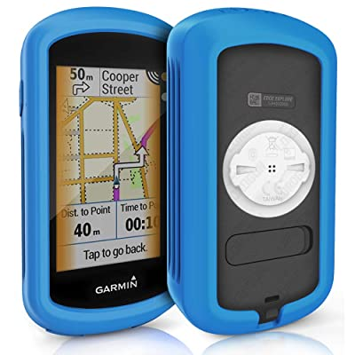 TUSITA Case for Garmin Edge Explore GPS - Silicone Protective Cover - Touchscreen Touring Bike Computer Accessories (Blue)