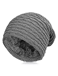 Vbiger Winter Beanie Hat Knitted Outdoor Warm Skiing Hat Skull Cap