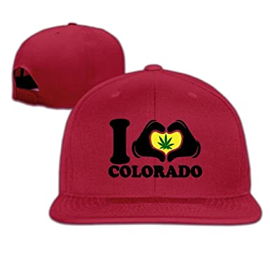 Novelcustom Gorras de béisbol I Love Colorado Weed Pot Leaf ...