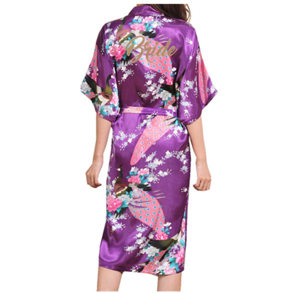 Ankamal Elec Novia Mujeres Kimono túnica lencería Ropa de Noche Prenda Despedida de Soltera Ropa de Dormir: Amazon.es: Ropa y accesorios