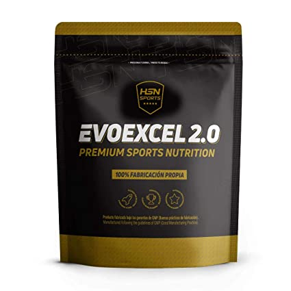 Whey Protein Isolate + Whey Protein Concentrate Evoexcel 2.0 de HSN Sports, Sin Gluten, Apto Vegetariano, Sabor Chocolate Avellanas, 2000 gr