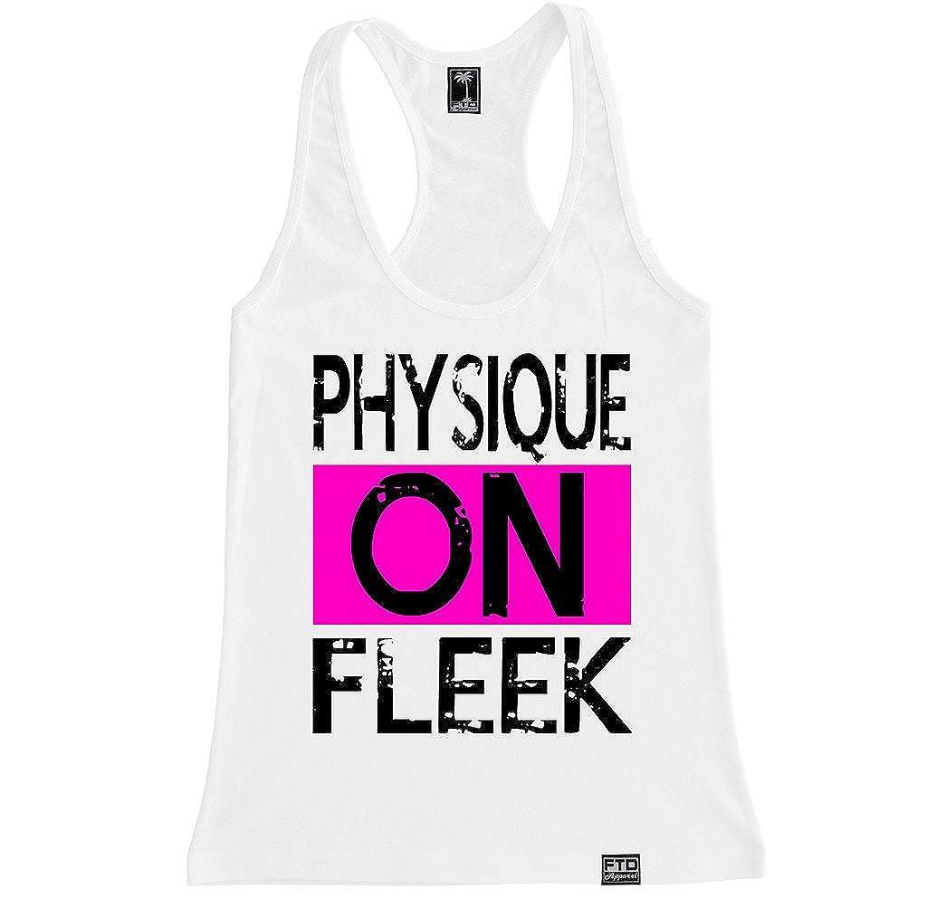 f87892d9890a46 Amazon.com  FTD Apparel Women s Physique on Fleek Racerback Tank Top   Clothing