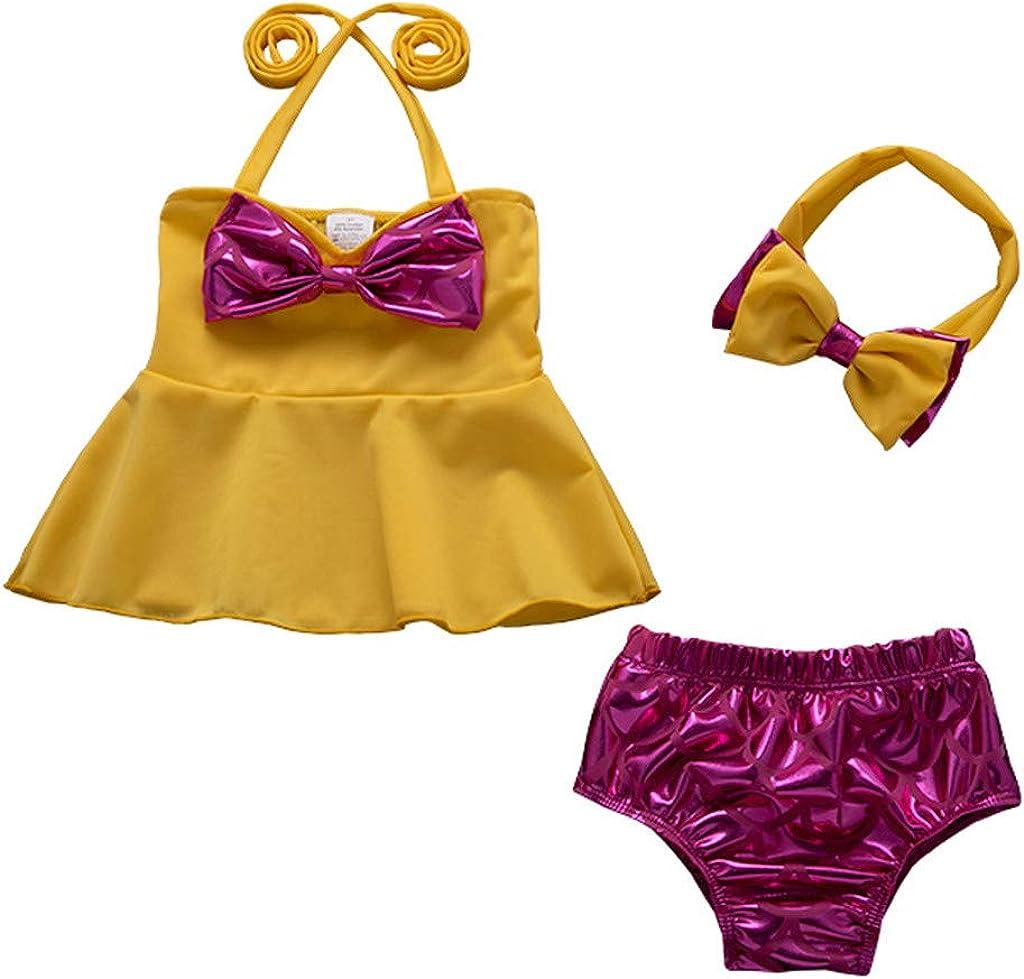 Kids Baby Girl Sleeveless Bow Tops Bikini Shorts Beach Bathing Outfits Juesi Swimsuit for Girls
