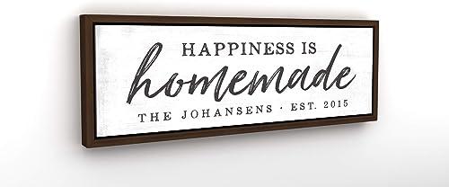 Pretty Perfect Studio Custom Happiness is Homemade Sign
