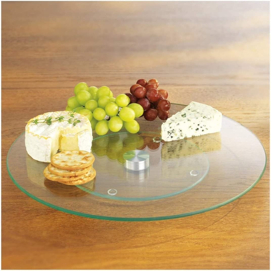 "Tempered Glass Lazy Susan 10"" Round"