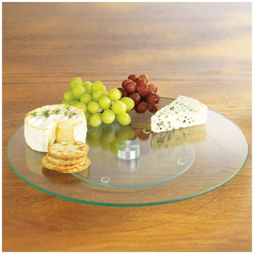 Tempered Glass Lazy Susan 10 Round Dependable Industries Inc 697