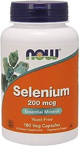 NOW Foods Selenium 200 mcg VCaps, 180 ct (180)