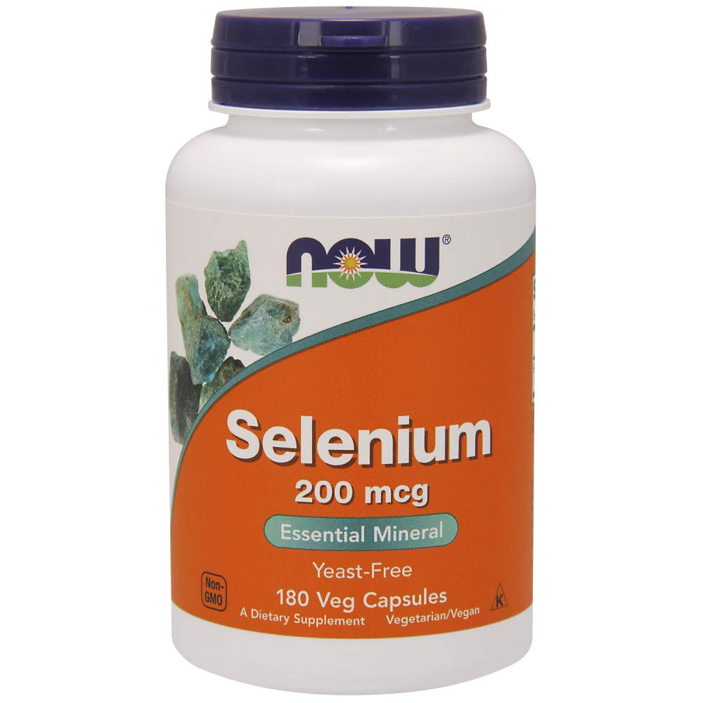 NOW Foods Selenium 200 mcg VCaps, 180 ct (180)