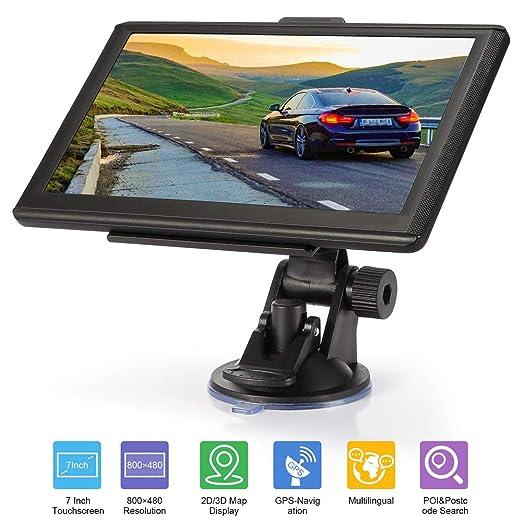 NHLAQ Bluetooth Navegador GPS Navegación con Pantalla táctil ...