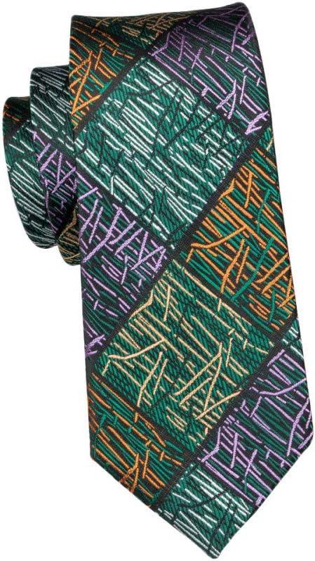 KYDCB Marca para Hombre Corbatas De Seda A Cuadros Verde Corbatas ...