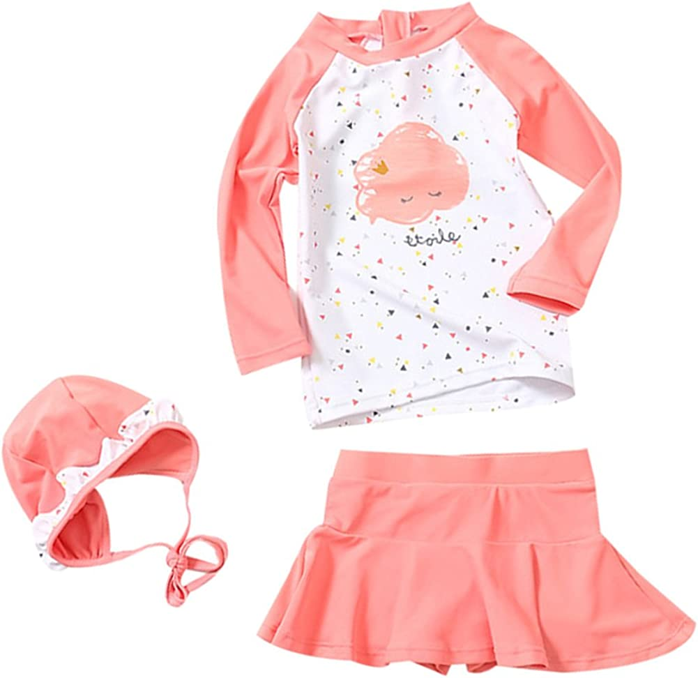 Two Piece Rash Guard Set LOSORN ZPY Toddler Baby Girl Long Sleeve UPF 50