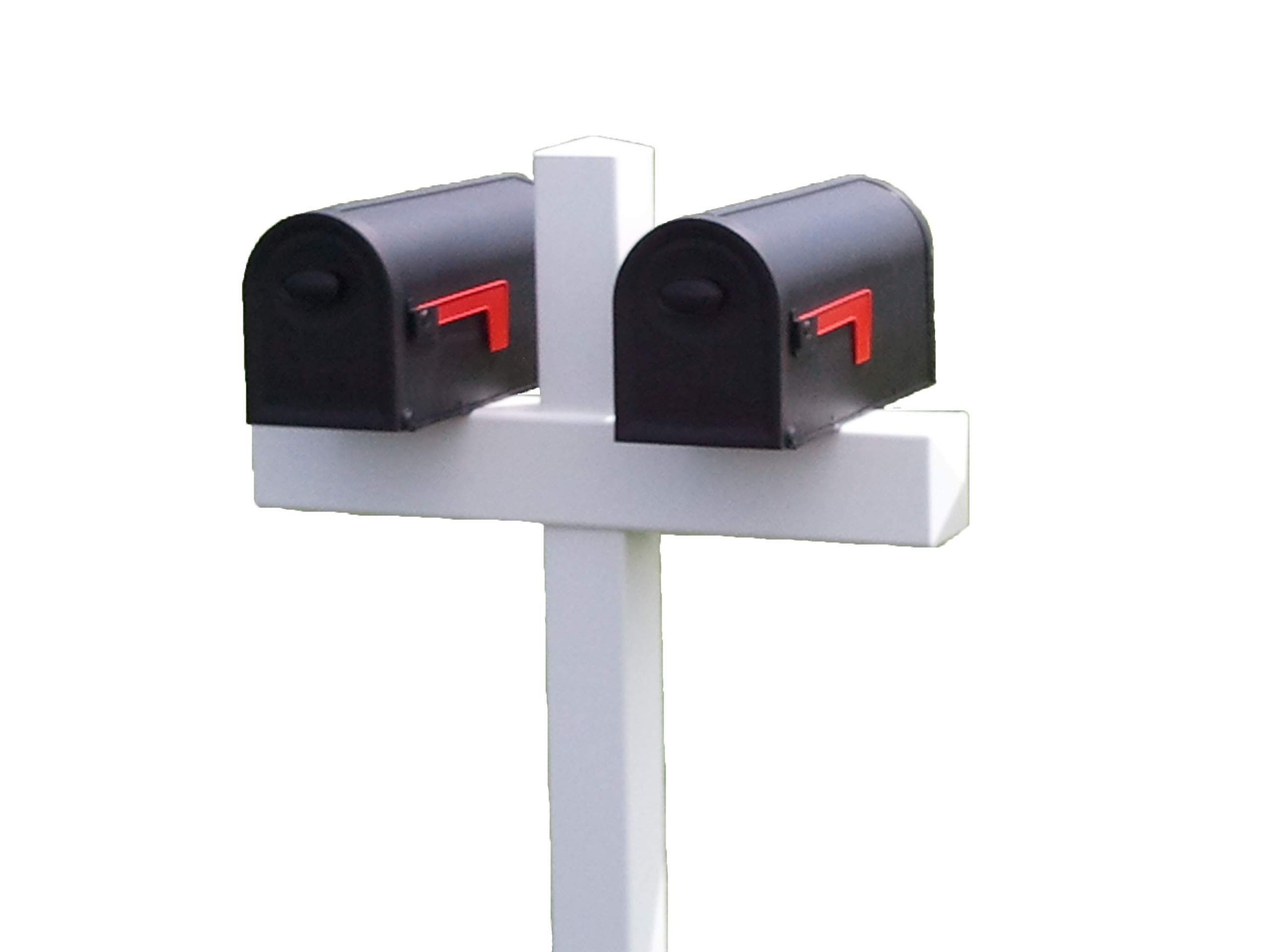 Handy Post Double 54-in x 32-in White Vinyl Mailbox Post Sleeve