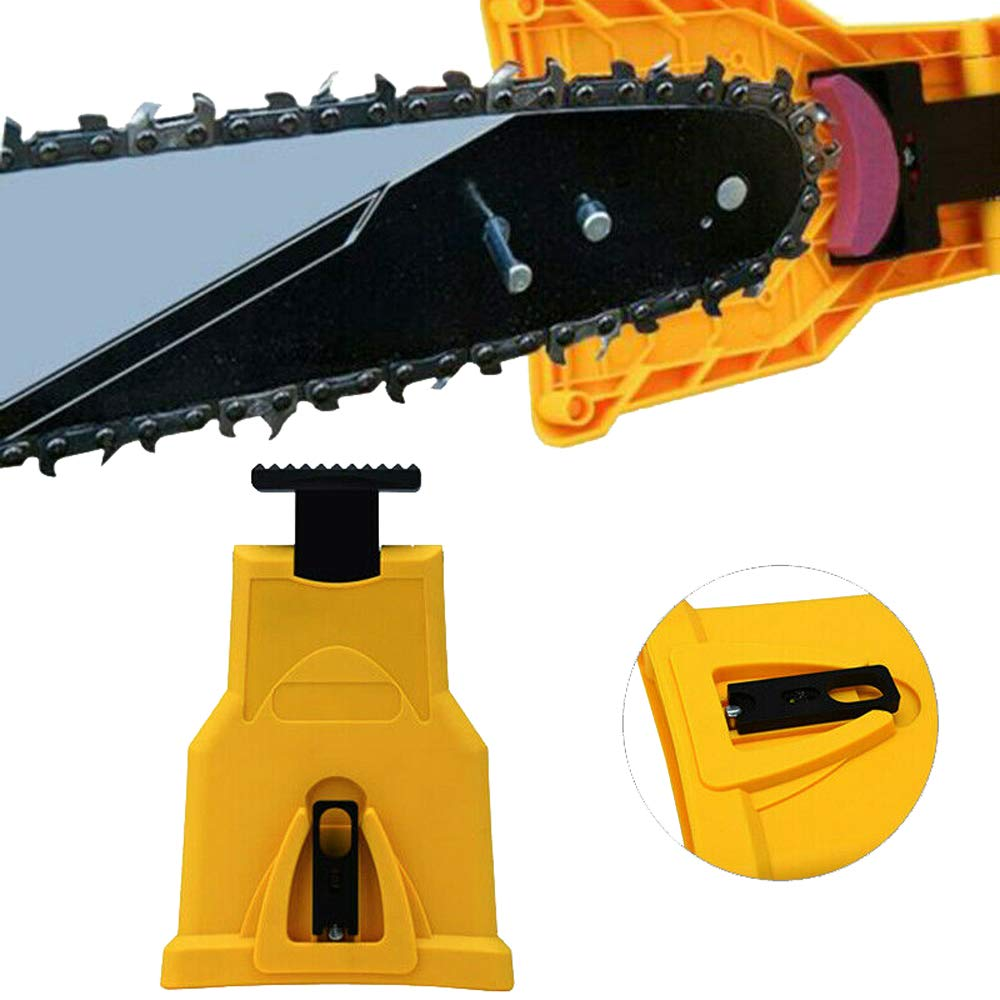 Chainsaw Sharpener Chainsaw Teeth Sharpener Work Sharp Chain Saw Sharpener Chain Saw Blade Sharpener (Only Fit Chainsaw Bar with 2 Holes)