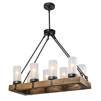 Laluz rustic ceiling lights wood chandelier lighting kitchen island laluz rustic ceiling lights wood chandelier lighting kitchen island pendant light aloadofball Image collections