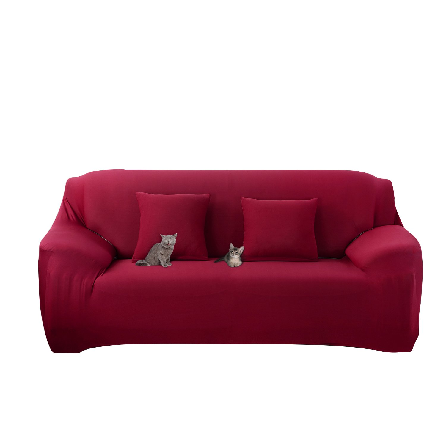 Mobo Red Sofa Cover - 1-Piece Slipcover for 57-72 Inches Loveseat - Stretch  Elastic couch cover with Polyester Spandex Fabric