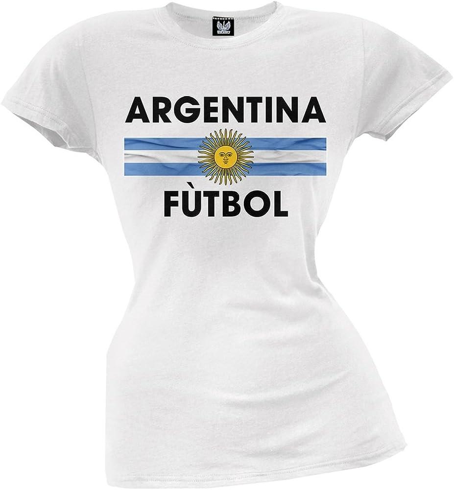 Amazon.com: Argentina escudo blanco fútbol Juniors playera ...