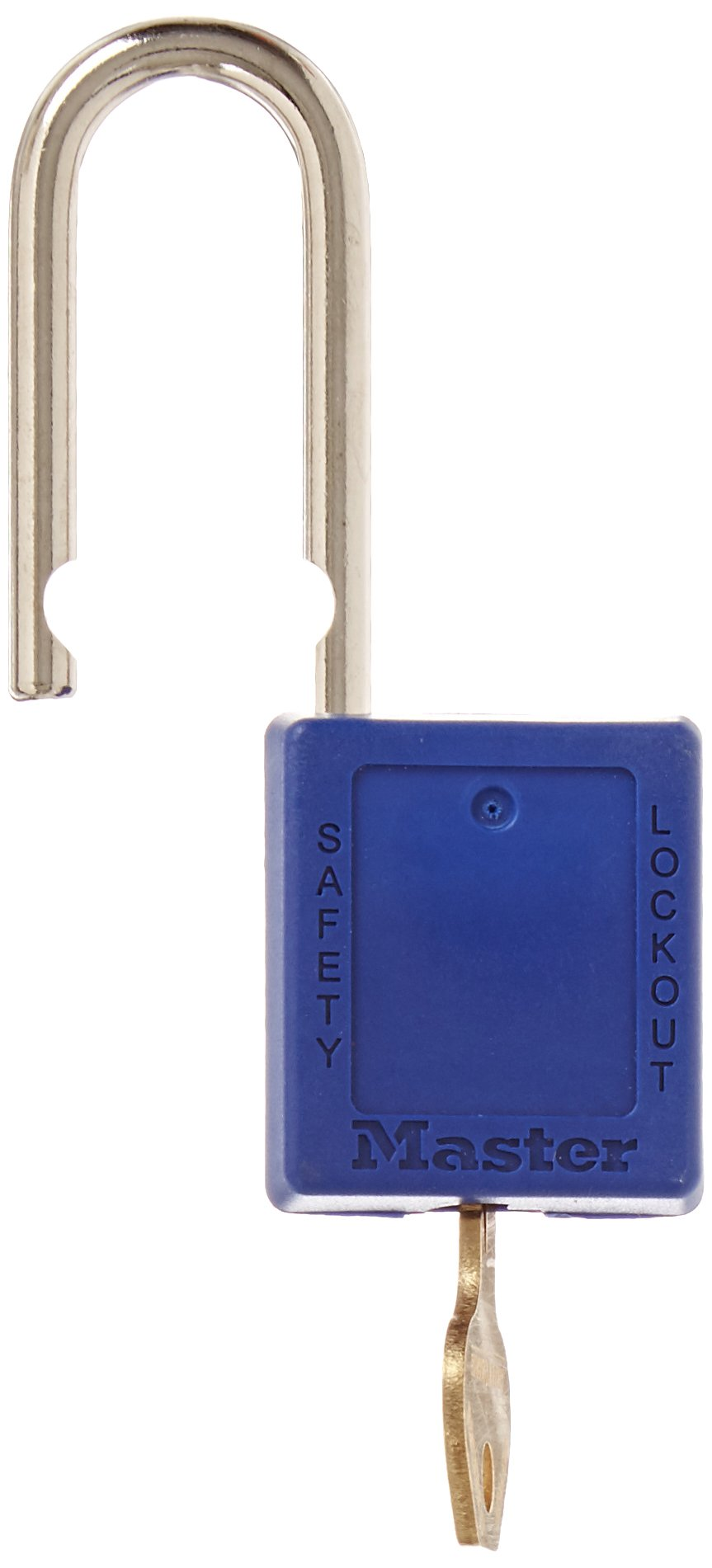 Master Lock 410BLU Blue 410 Xenoy Safety Padlock with Short Body, 1/4'' x 1-1/2'' Shackle